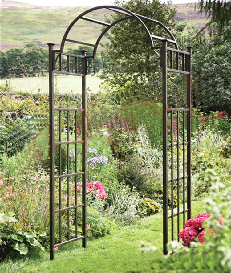 Metal Arch Arbor: Garden Arches & Courtyard Entrance Gates